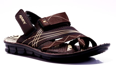 Sparx Men Brown Beige Sandals at flipkart