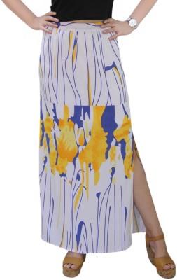 CrazeVilla Printed Women Straight Multicolor Skirt