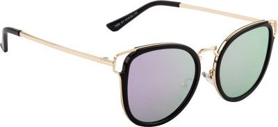 Farenheit FA-7996-C7 Round Sunglasses(Violet) at flipkart