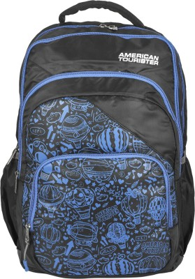 American Tourister Doodle 02 35 L Backpack(Black, Blue)