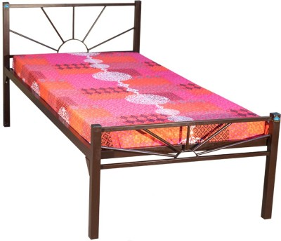 Delite Kom Sunshine Metal Single Bed(Finish Color -  Brown)