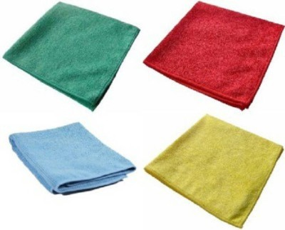 Sukot Microfiber Soft Plush Car Bike Clean Wash Cloth Wet and Dry Microfibre Cleaning Cloth(Pack of 4)  available at flipkart for Rs.245