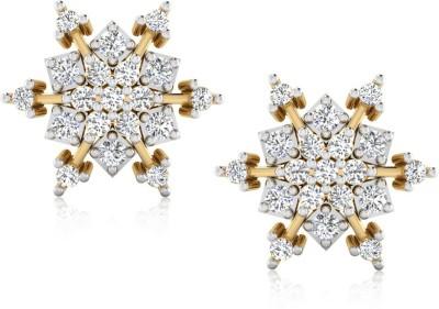 IskiUski Yellow Gold 14kt Diamond Stud Earring