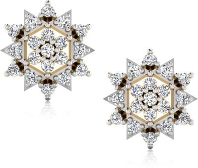 IskiUski Yellow Gold 18kt Diamond Stud Earring
