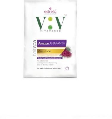 Estrella Vita Verde Hair Spa Amazon amaranth Color Lock Single Use Kit(90 g)  available at flipkart for Rs.159