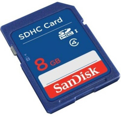 SanDisk SDHC 8 GB SD Card Class 4 15 MB/s  Memory Card at flipkart