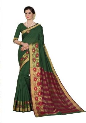 99b7a75cc4 Buy Taanshi Self Design Kanjivaram Cotton Silk Saree(Green) on Flipkart |  PaisaWapas.com