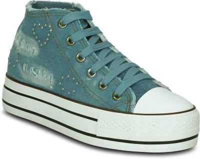 Kielz Ladies Canvas Shoes Sneakers For Women(Blue)