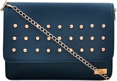Yelloe Women Blue PU Sling Bag at flipkart