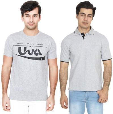 BrandTrendz Solid Men Round Neck Grey T-Shirt(Pack of 2)