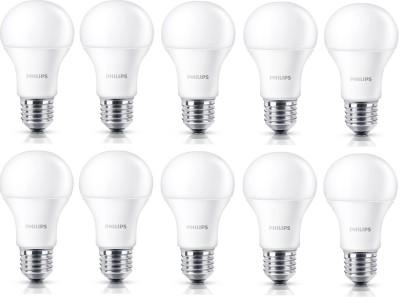 Philips 14 W Standard E27 LED Bulb(White, Pack of 10)