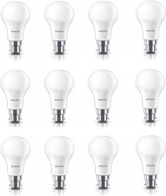 Philips 12 W Standard B22 LED Bulb(White, Pack of 12) at flipkart
