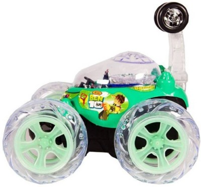 Shy Products Rechargeable STUNT Racer Remote Control Car Kids Toys Battery Operated RC Music(Green)  available at flipkart for Rs.649