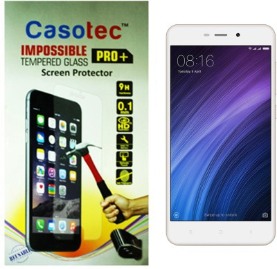 Casotec Tempered Glass Guard for Mi Redmi 4(Pack of 1)