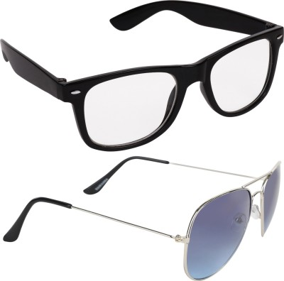 Criba Wayfarer Sunglasses(Clear, Blue)
