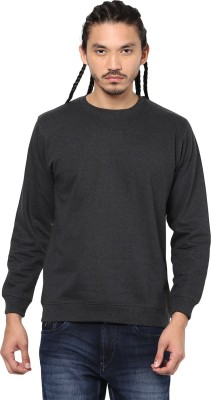 American Crew Full Sleeve Solid Men Sweatshirt at flipkart