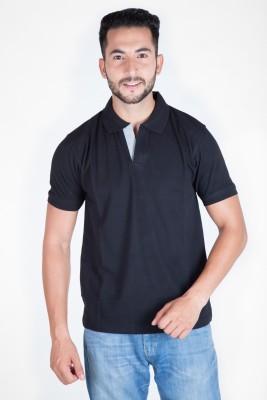 McHenry Solid Men Polo Neck Dark Blue T-Shirt