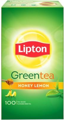 Lipton Honey, Lemon Green Tea Bags Box(100 Bags)