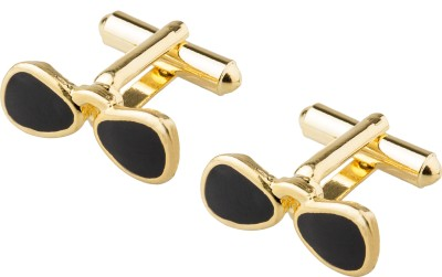 Shining Jewel Brass Cufflink(Black)