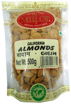 Miltop California Almonds(1 kg, Pouch)  available at flipkart for Rs.975