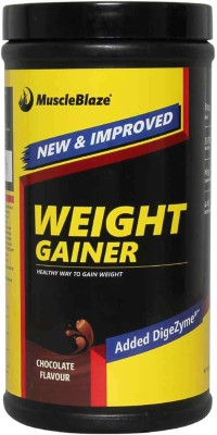 MuscleBlaze Weight Gainer with Added DigeZyme Weight Gainers/Mass Gainers(0.5 kg, Chocolate)  available at flipkart for Rs.452