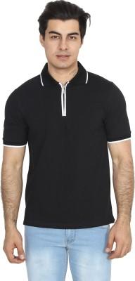BrandTrendz Solid Men's Polo Neck Black T-Shirt