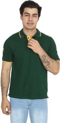 BrandTrendz Solid Men's Polo Neck Green T-Shirt