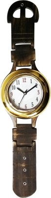 Golddust Analog 65 cm X 18 cm Wall Clock(Brown, With Glass)