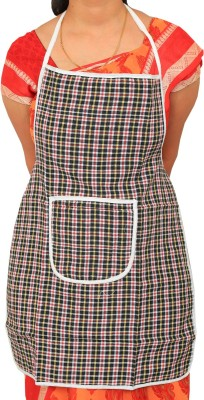 Kuber Industries Cotton Home Use Apron - Free Size(Maroon, Single Piece) at flipkart