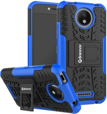 Bracevor Back Cover for Motorola Moto C Plus(Royal Blue, Grip Case, Rubber, Plastic)