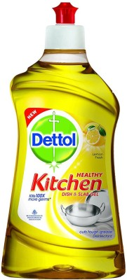 Dettol Kitchen Slab and Dish Cleaning Gel, 200 ML Lemon Fresh