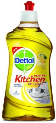 Dettol Kitchen Dish and Slab Gel, 400 ML Lemon Fresh