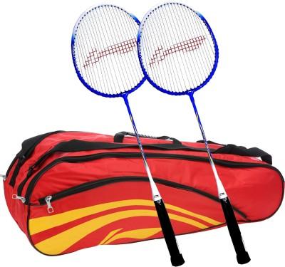 Li-Ning Smash XP 707 (Set of 2) Badminton Racquets + ABDJ118 Kitbag Red Badminton Kit