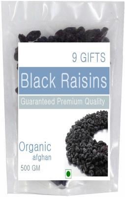 9 GIFTS Afghanistan Black Seedless Raisins(500 g)