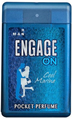 Engage On Cool Marine Pocket Perfume  -  18 ml(For Men)