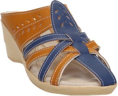 Zappy Women Blue,Tan Wedges at flipkart