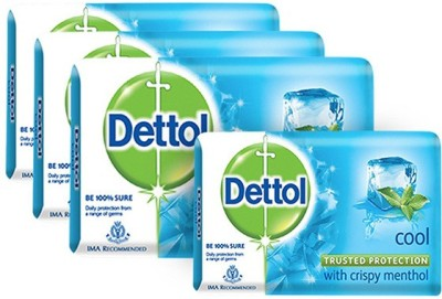 Dettol Cool Soap(300 g, Pack of 4)