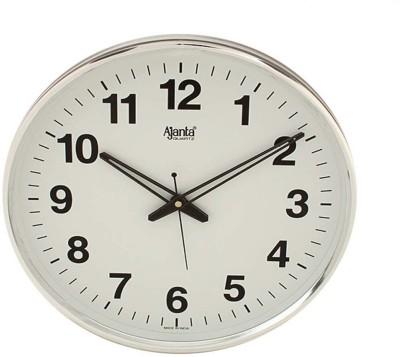 Ajanta Analog Wall Clock(White, With Glass)