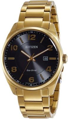 Citizen Eco-Drive Analogue Black Dial Men's Watch, BM7322-57E