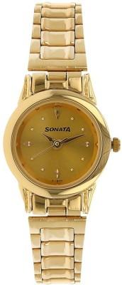 SONATA NN8925YM02W Economy Analog Watch - For Women