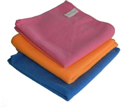 Sukot 3 PCs Soft Plush Car Auto Clean & wash Kitchen use Wet and Dry Microfibre Cleaning Cloth(Pack of 3)  available at flipkart for Rs.199