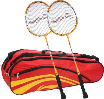 Li-Ning Smash XP 710 (Set of 2) Badminton Racquets + ABDJ118 Kitbag Red Badminton Kit