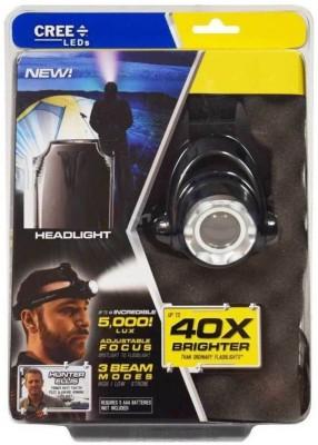 Voltegic ® Headlight Flashlight Torch 5000 Lumens Max Bright Weatherproof LED Headlamp Black Voltegic Lights