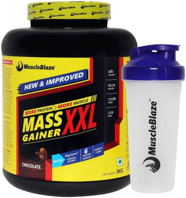 MuscleBlaze XXL (with Free Shaker) Mass Gainers(3 kg, Chocolate)