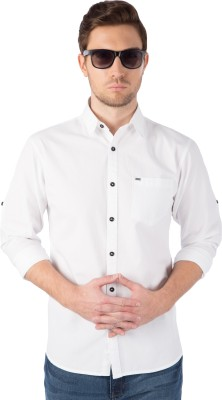 Rodid Men Solid Casual White Shirt