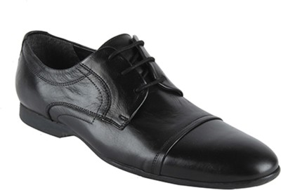 Salt N Pepper 14-740 Smoke Black Lace Up Shoes For Men(Black) at flipkart