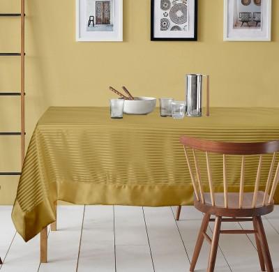 Lushomes Striped 6 Seater Table Cover(Light Beige, Polyester) at flipkart