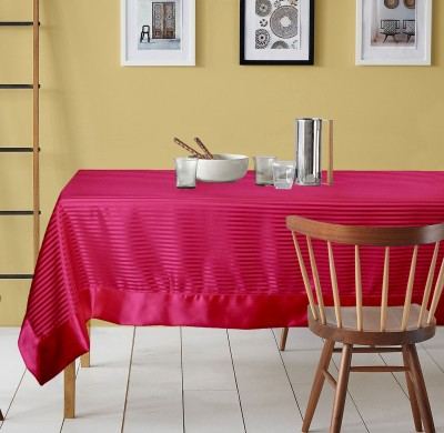 Lushomes Striped 6 Seater Table Cover(Fuchsia, Polyester) at flipkart