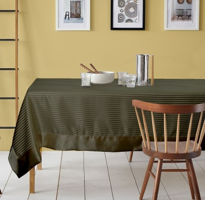 Lushomes Striped 6 Seater Table Cover(Dark Grey, Polyester) at flipkart