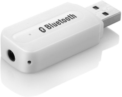 Voltegic ™ New Home Car Wireless Bluetooth AUX 3.5 mm Audio Stereo Music Receiver Adapter MIC CR BT 005 Bluetooth White Voltegic Mobile Accessories